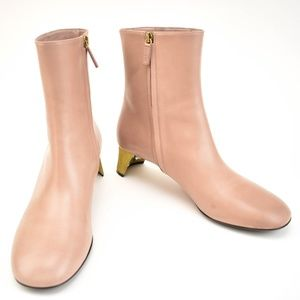 GUCCI Betis Glamour Pink Mauve Leather Boots